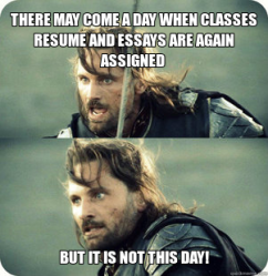 My thoughts whenever I see NCU post about how many days are left before fall term...