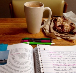 Tea and studying at Caspian's.